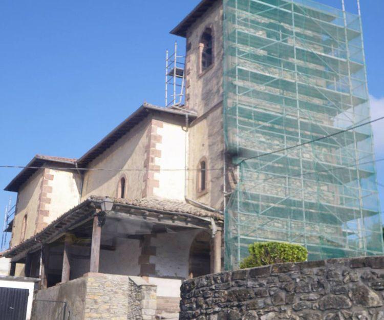 Rehabilitación de Iglesia en Navarra - Antes