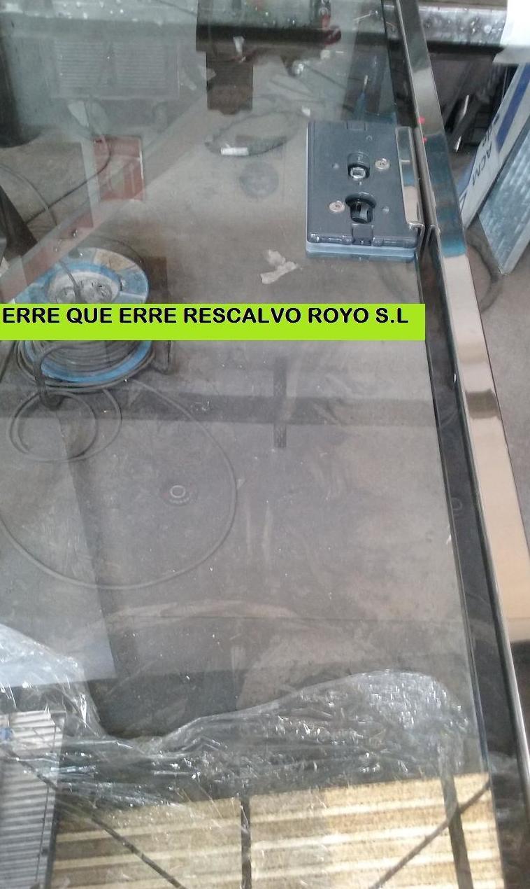 FABRICANDO PUERTA DE CRISTAL CON MARCO EN ACERO