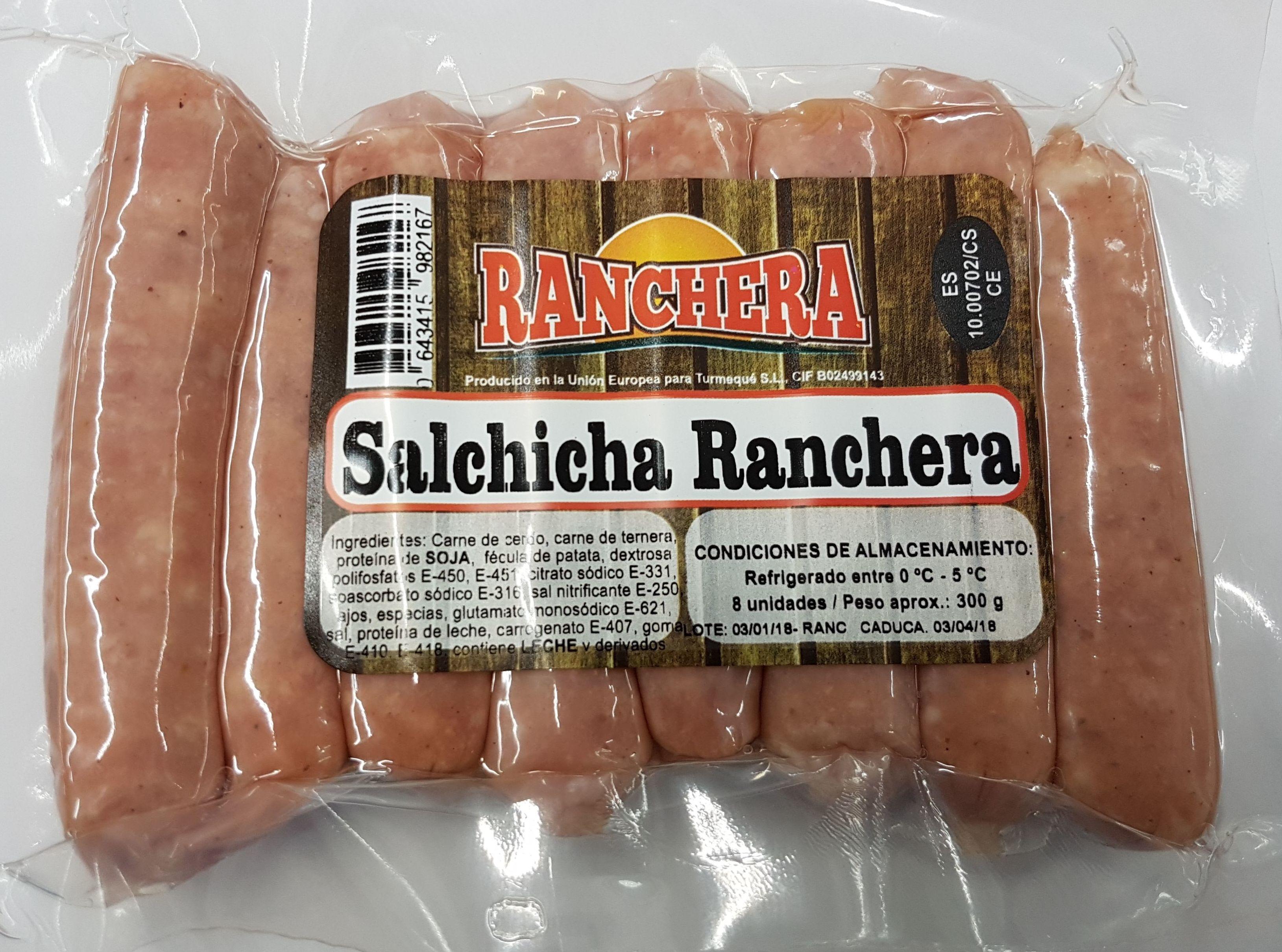 Salchicha Ranchera 8 unidades 300 grs.: PRODUCTOS de La Cabaña 5 continentes