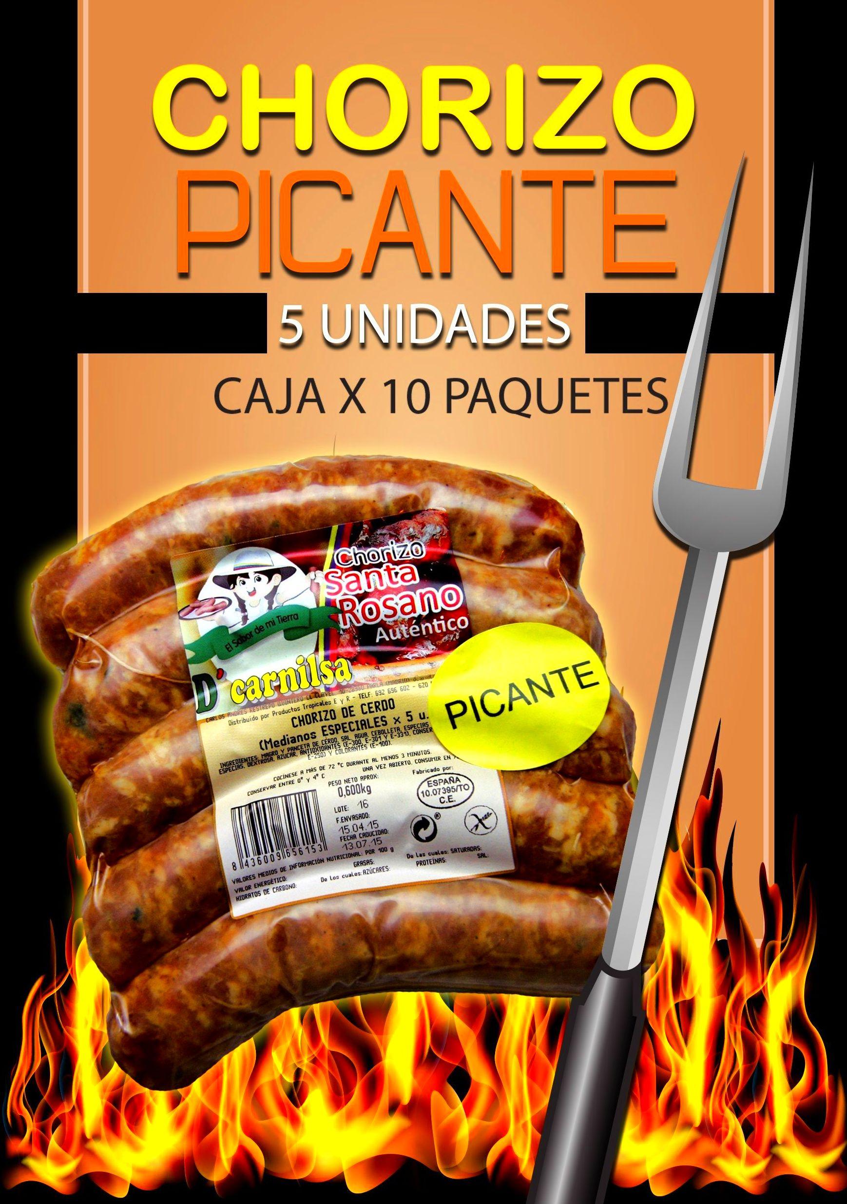 Chorizo picante Santa Rosano: PRODUCTOS de La Cabaña 5 continentes