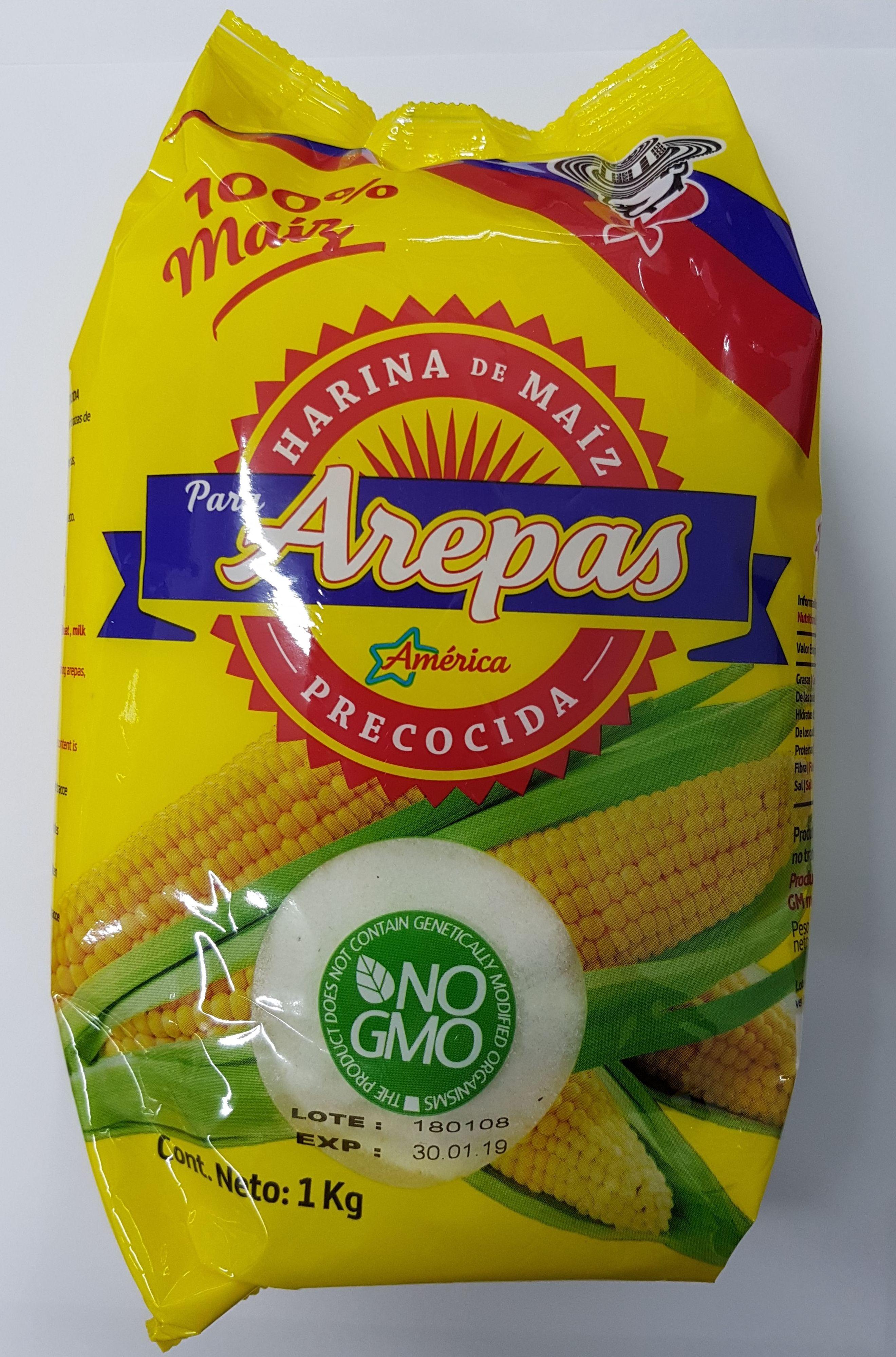 Harina para arepas América blanca 1 kg: PRODUCTOS de La Cabaña 5 continentes