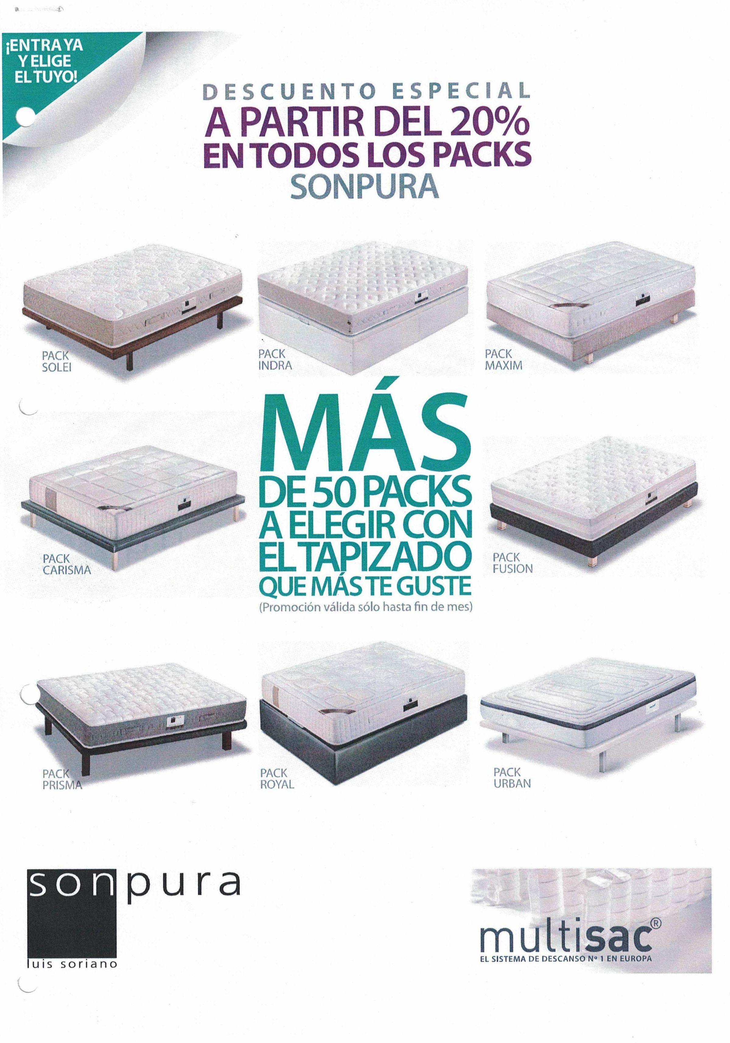 Promoción Sonpura  colchón + base 20% Dto.