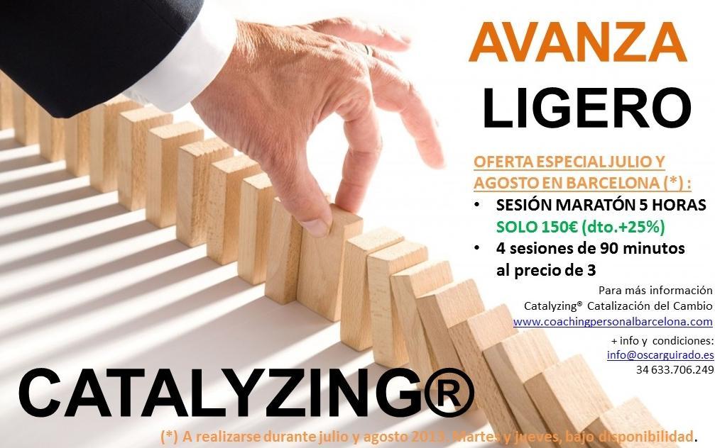 Oferta verano'13 - CATALYZING® - Catalización del cambio