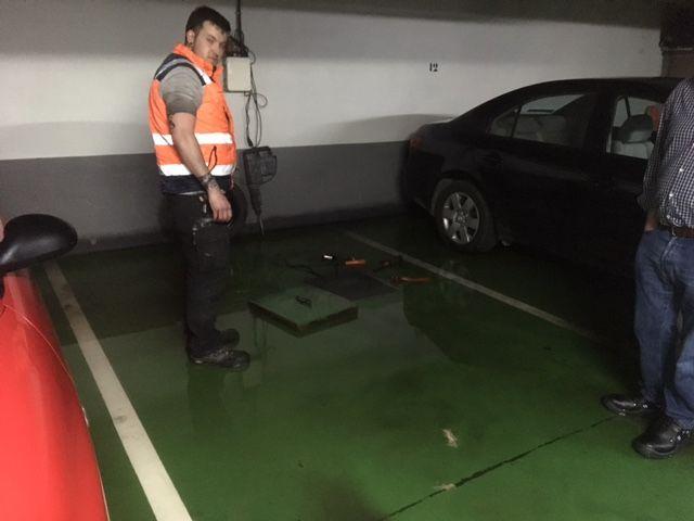 Desatasco de garajes en Oviedo