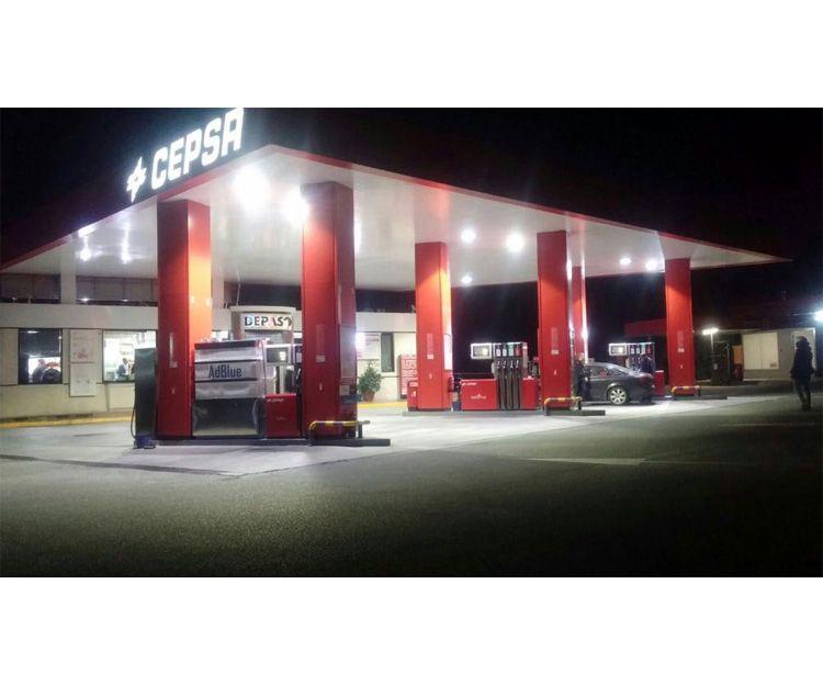 Gasolinera en Málaga