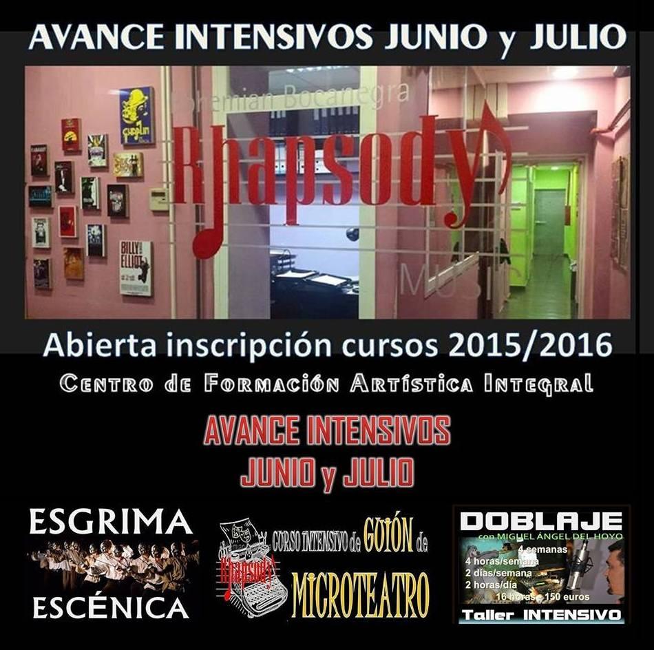 AVANCE INTENSIVOS JUNIO y JULIO