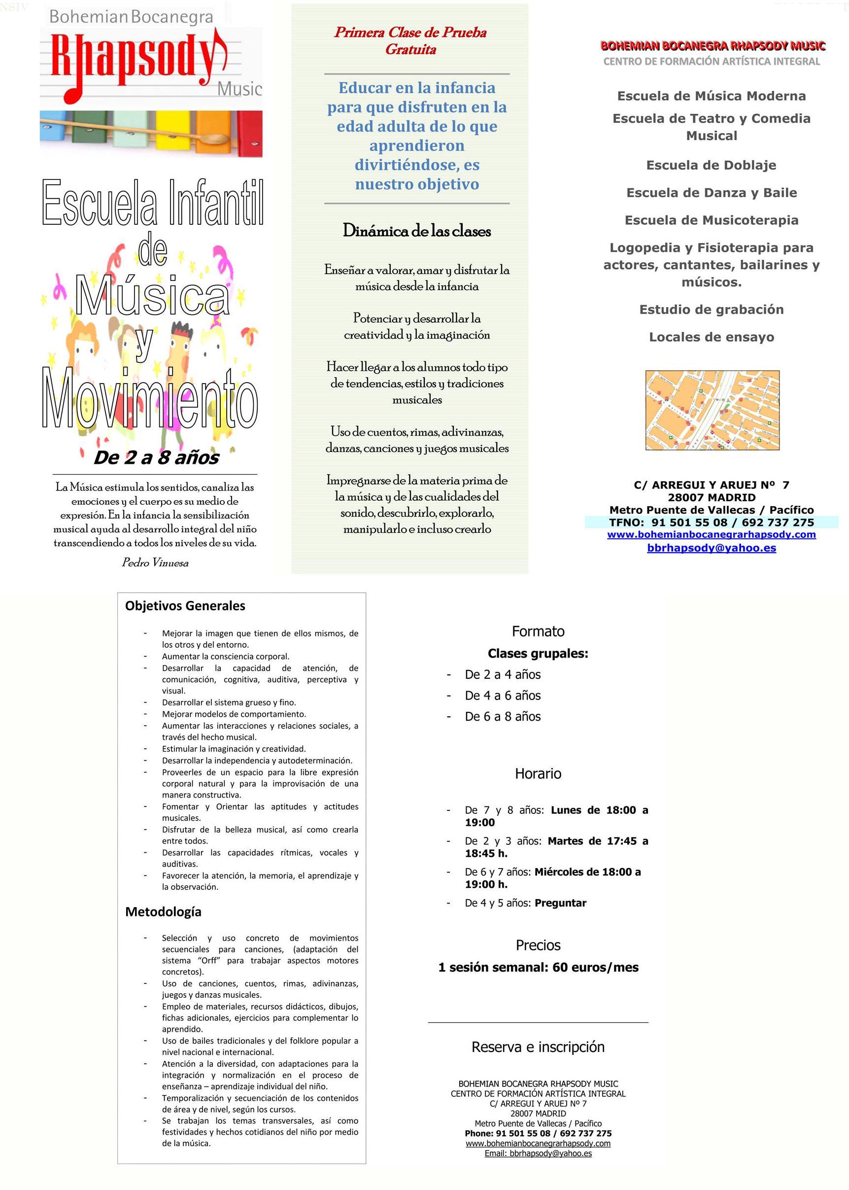 ESCUELA INFANTIL DE MUSICA Y MOVIMIENTO (DE 2 A 8 AÑOS)