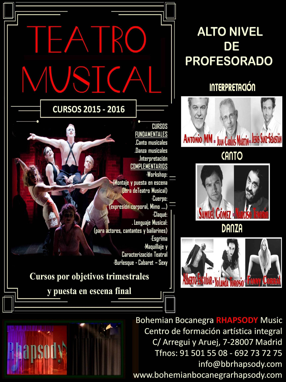 CURSOS ESCUELA TEATRO y COMEDIA MUSICAL \u002D ALTO NIVEL DE PROFESORADO