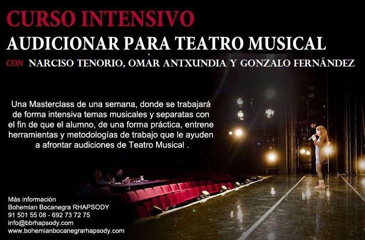 """""""AUDICIONAR EN TEATRO MUSICAL–PREPARACIÓN CASTING"""": Catálogo formación de Bohemian Bocanegra Rhapsody Music"""