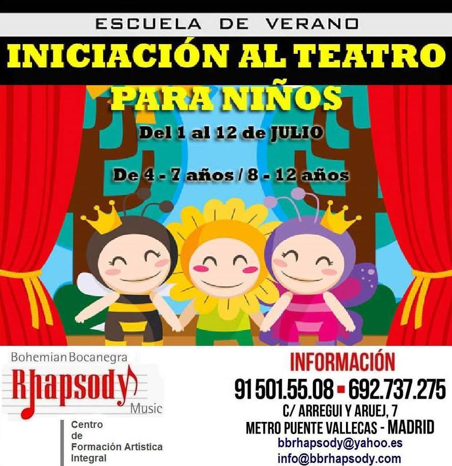 Iniciación al Teatro para niños