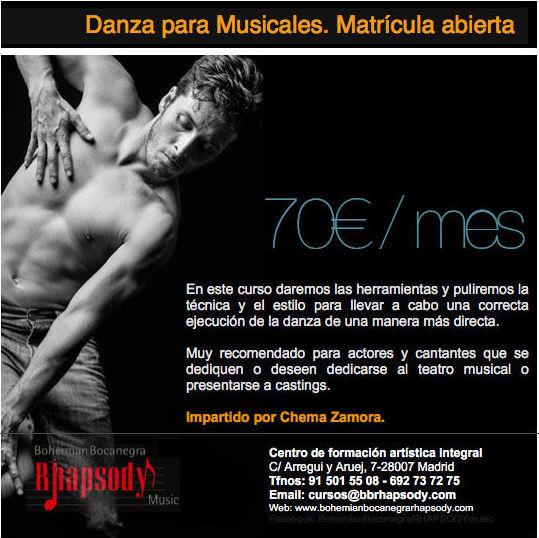 Danza para Musicales con Chema Zamora