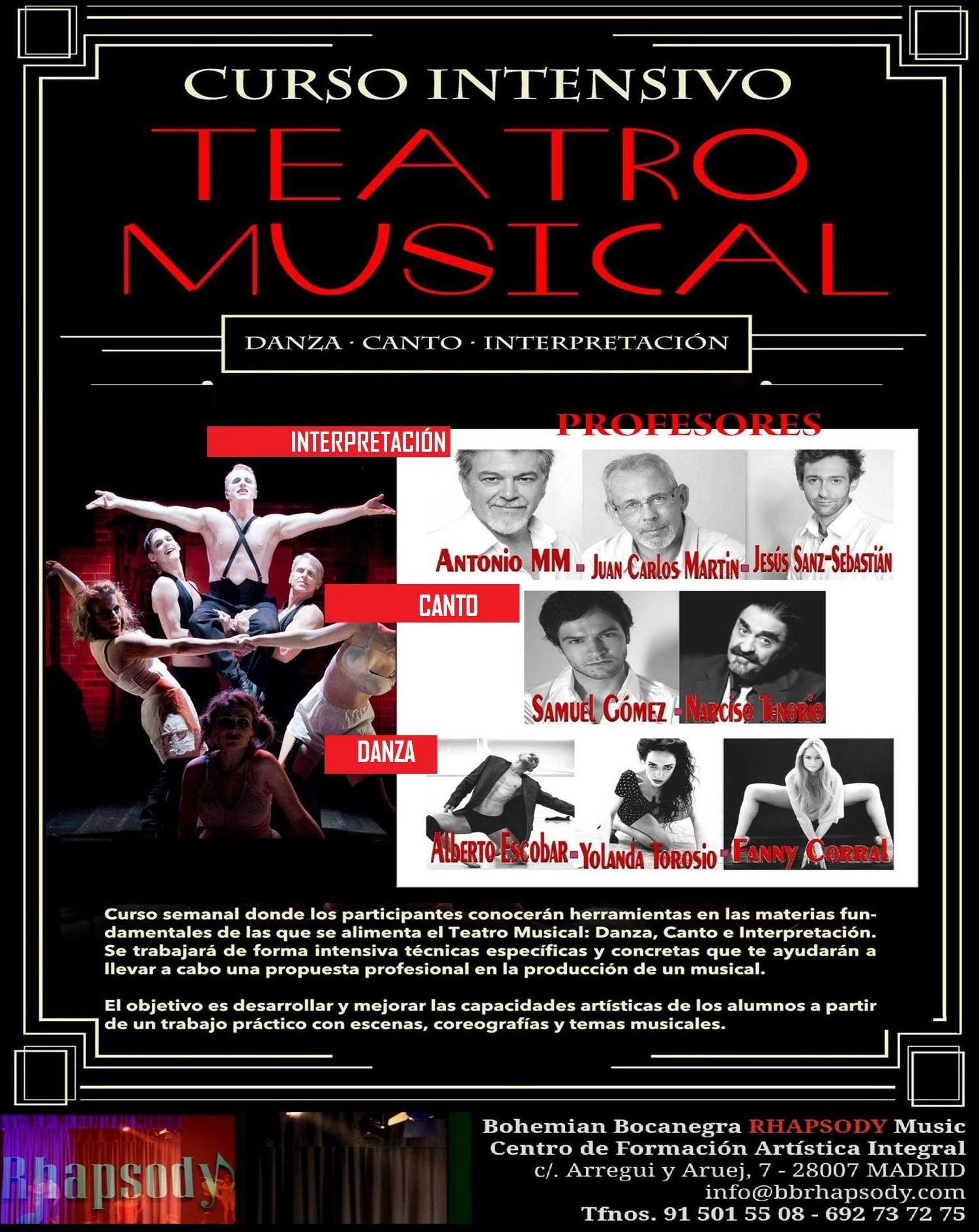 Curso INTENSIVOS SEMANAL de TEATRO MUSICAL