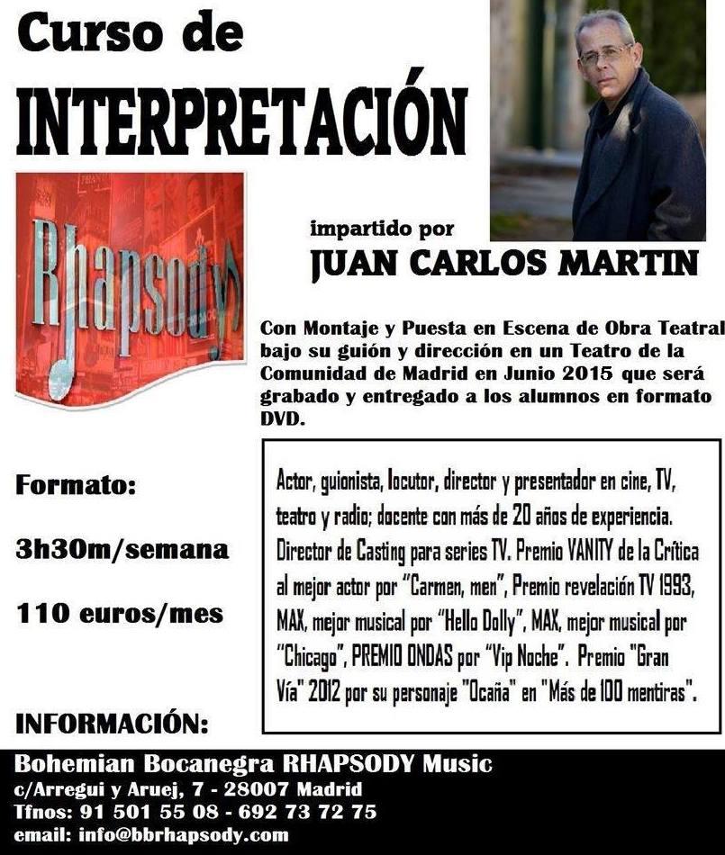 Curso de INTERPRETACIÓN con Juan Carlos Martín