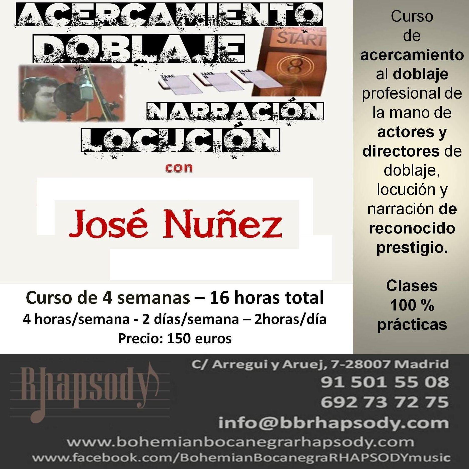 CURSO INTENSIVO DE DOBLAJE Y LOCUCIÓN: Catálogo formación de Bohemian Bocanegra Rhapsody Music