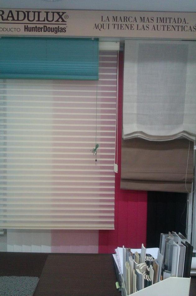 Cortina shiluette y cortina plisada
