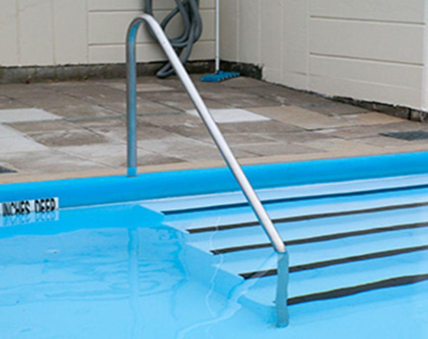 Barandillas de piscina para escaleras en acero inoxidable