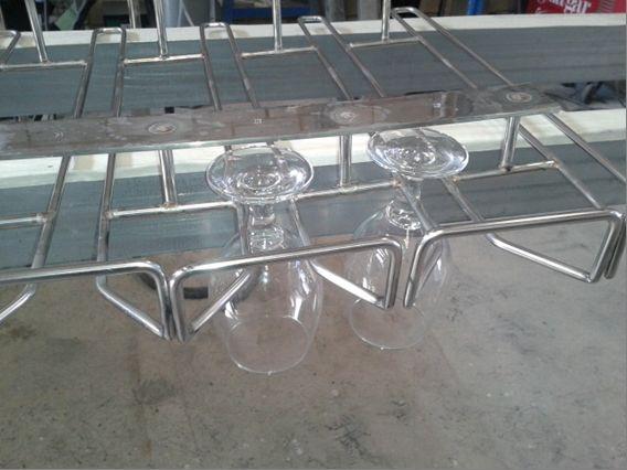 Porta copas acero inoxidable para restaurante y hoteles