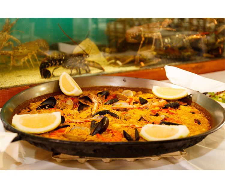 All kinds of paellas at our restaurant