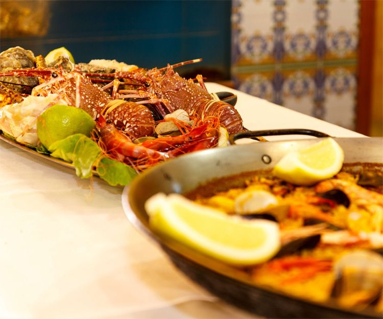 Paellas and seafood on our menus