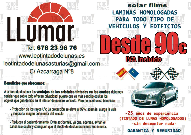 Foto 213 de Cristalería del automóvil en Gijón | Tintado de Lunas Asturias