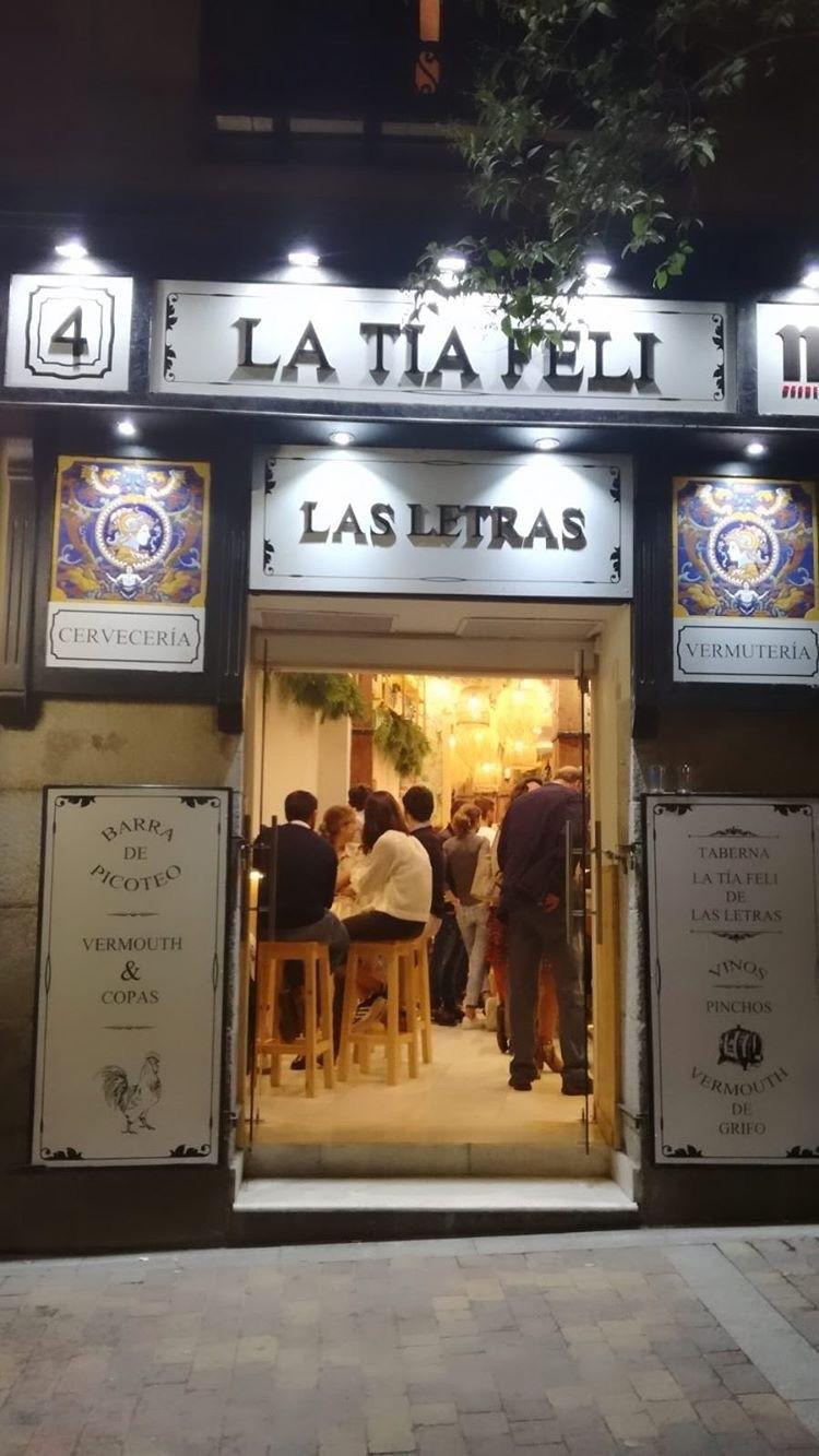 Bar cervecería Barrio de las Letras Madrid