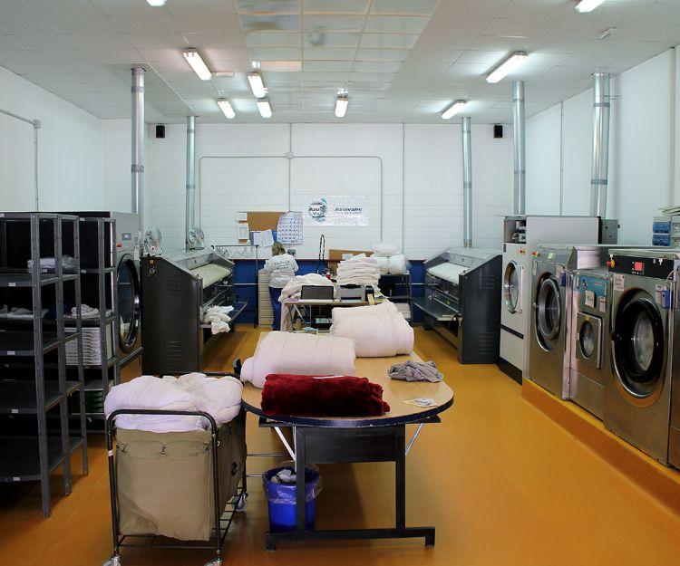 Interior de nuestra lavandería industrial