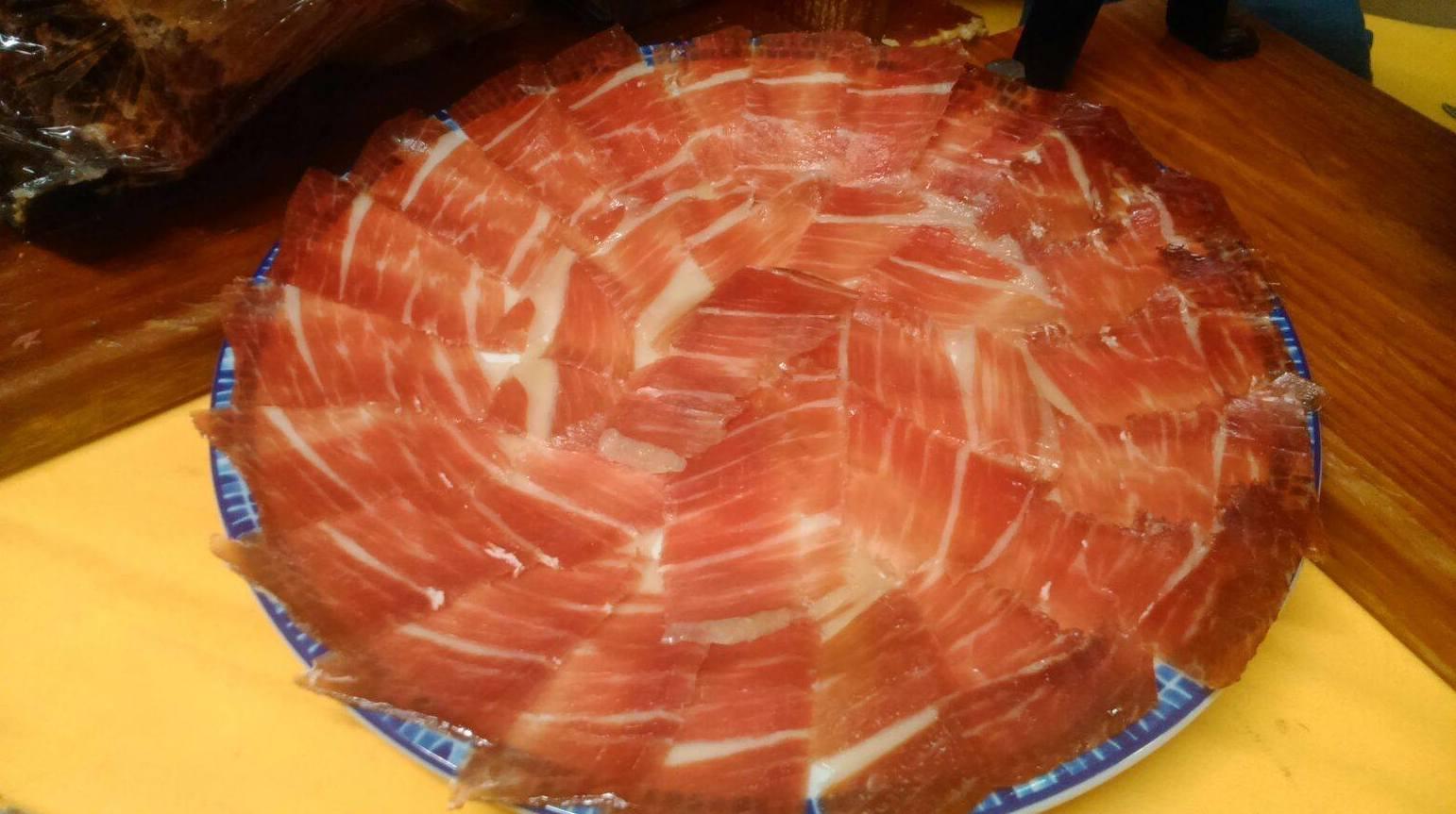 Raciones de Jamón Iberico Canillejas