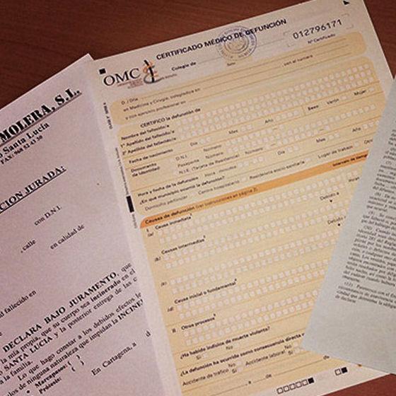Gestión de documentación: Servicios funerarios de Funeraria Sánchez Molera