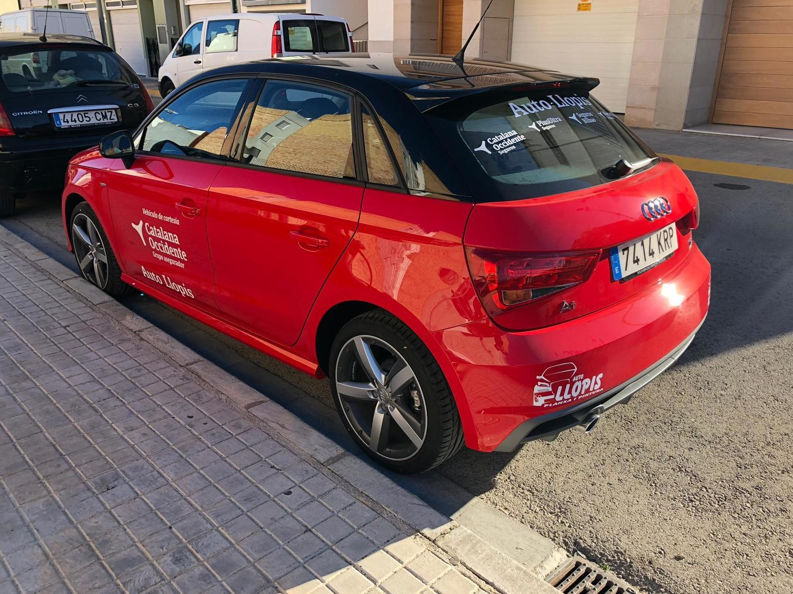 Audi A1 vehiculo de cortesia para los asegurados de Catalana Occidente . Seguros Bilbao y Plus Ultra