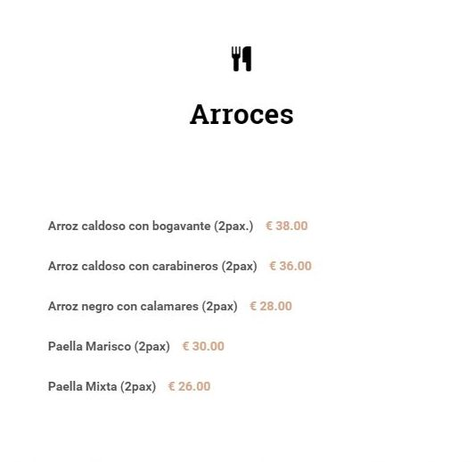 Carta de arroces