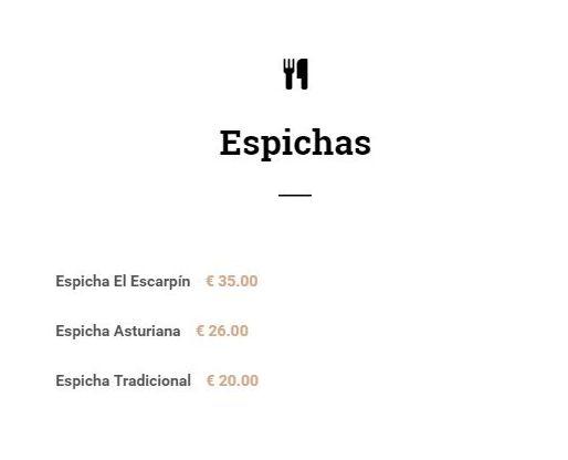 Comer espichas en Madrid