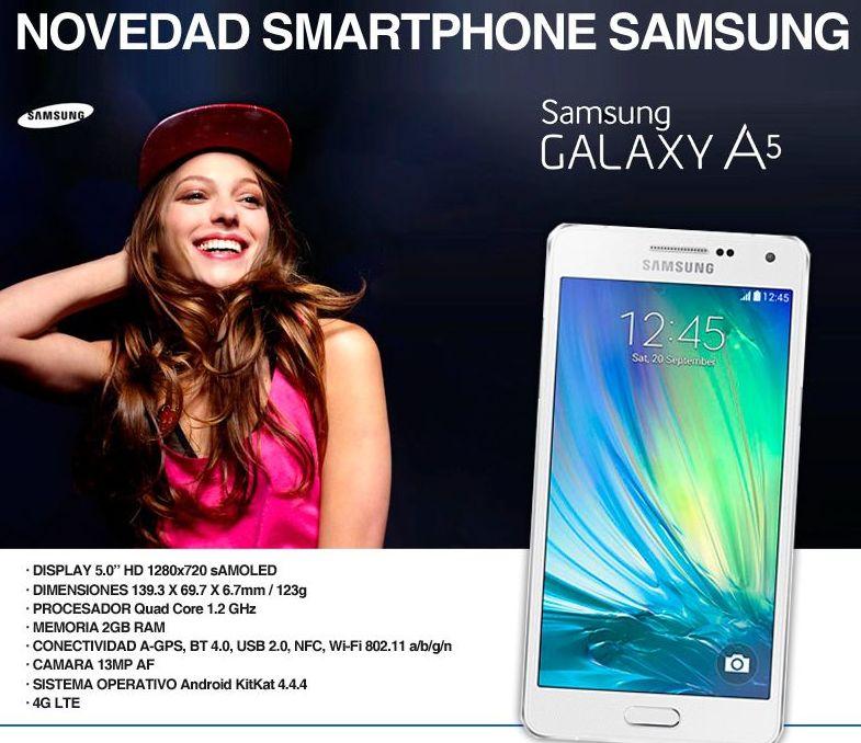 Samsung GALAXY A5 - SM-A500FU - blanco perla - 4G HSPA+ - 16 GB