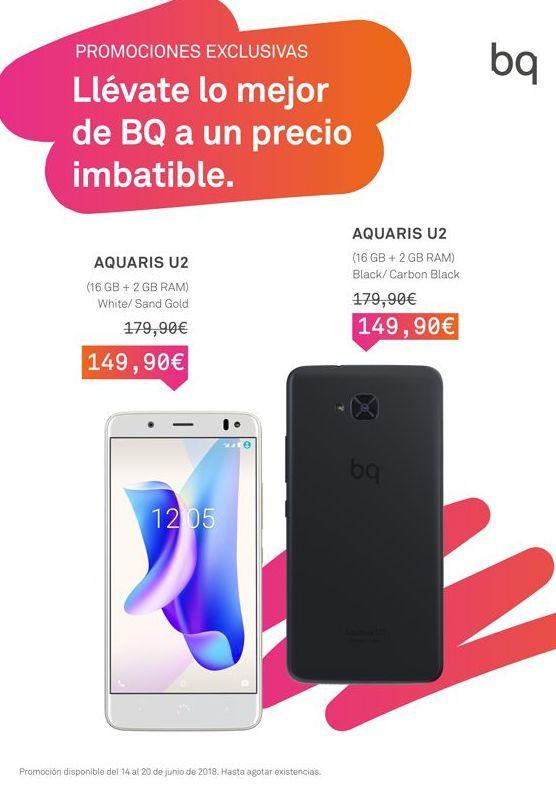 BQ AQUARIS U2 149,90 € en promocion