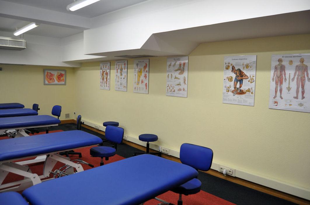Aula de prácticas Quiromasaje, Fisioterapia, Pilates Bilbao.