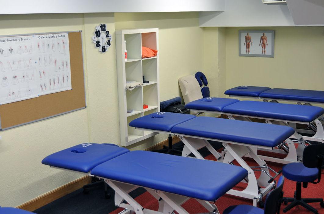 Aula de prácticas Quiromasaje, Fisioterapia Bilbao.