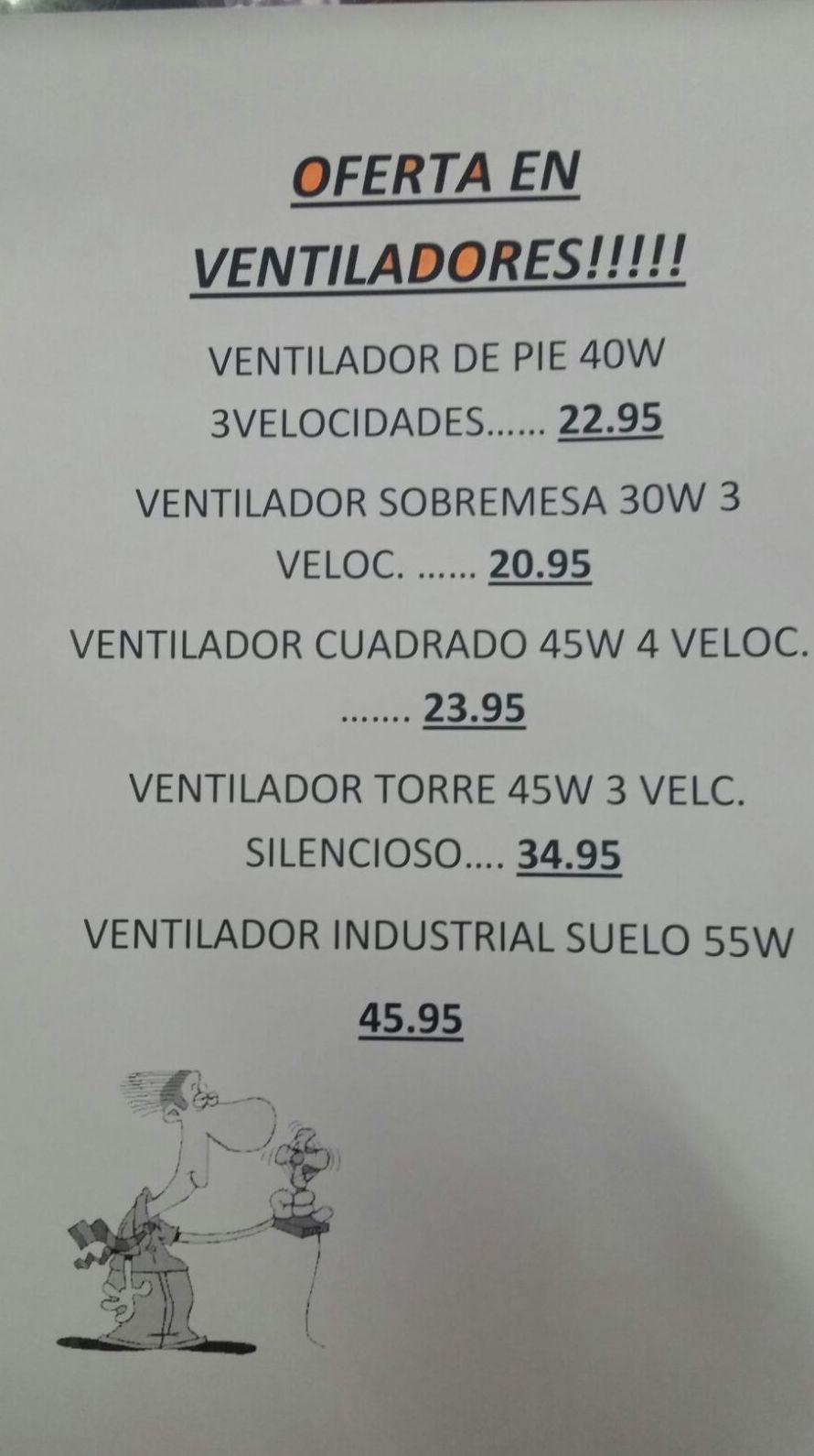 ofertas ventiladores Tenerife