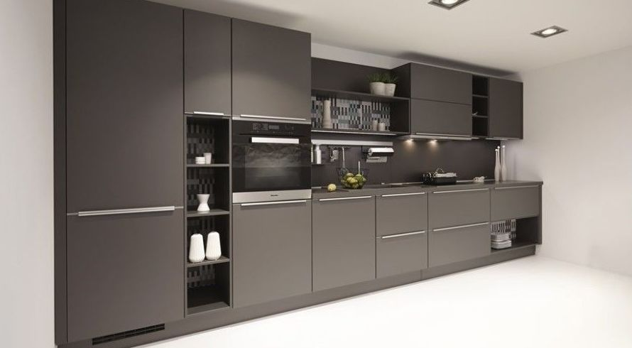 Frente de cocina en color negro