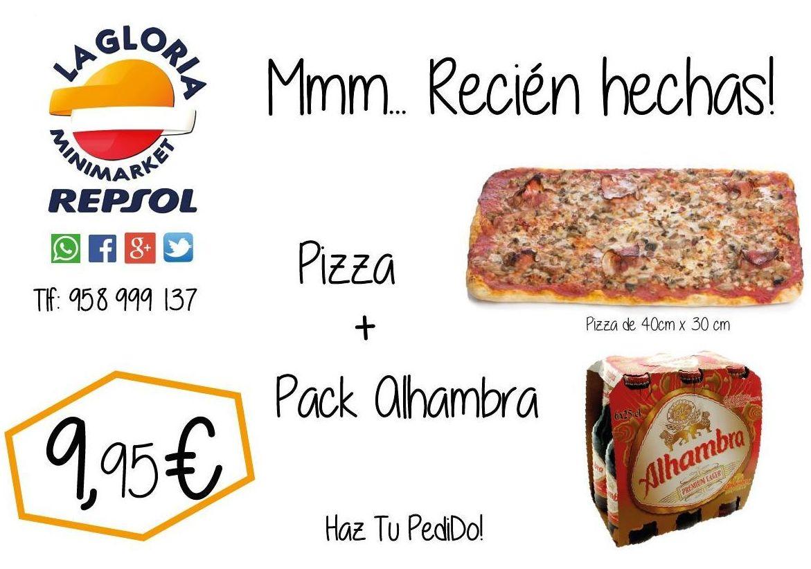 Pizza mas bebida