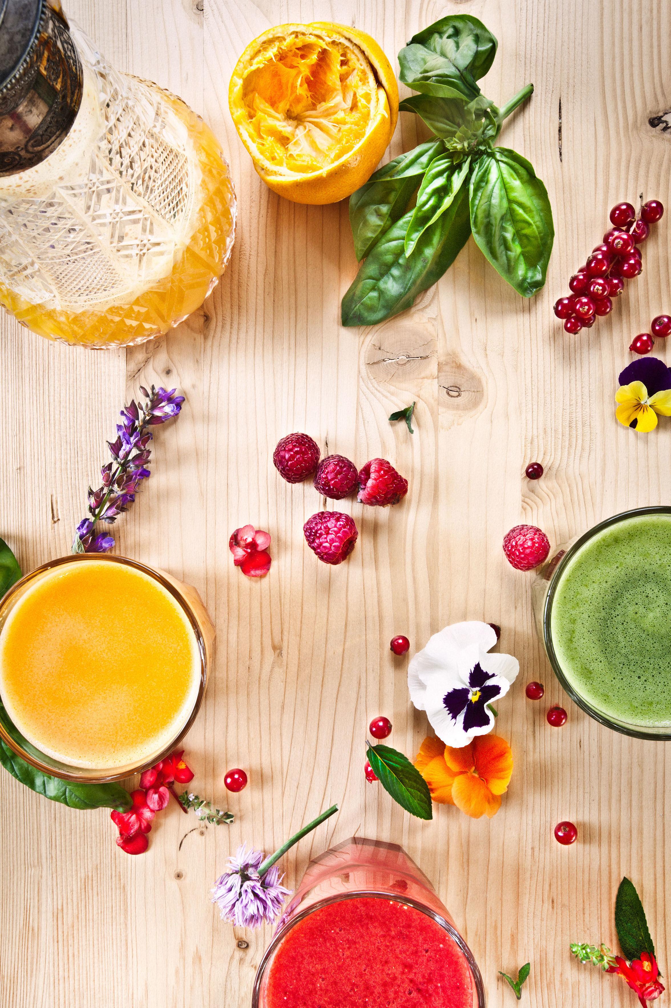 Zumos naturales al momento. Antioxidantes, energizantes y detox. Con espitulina, açai o trigo verde