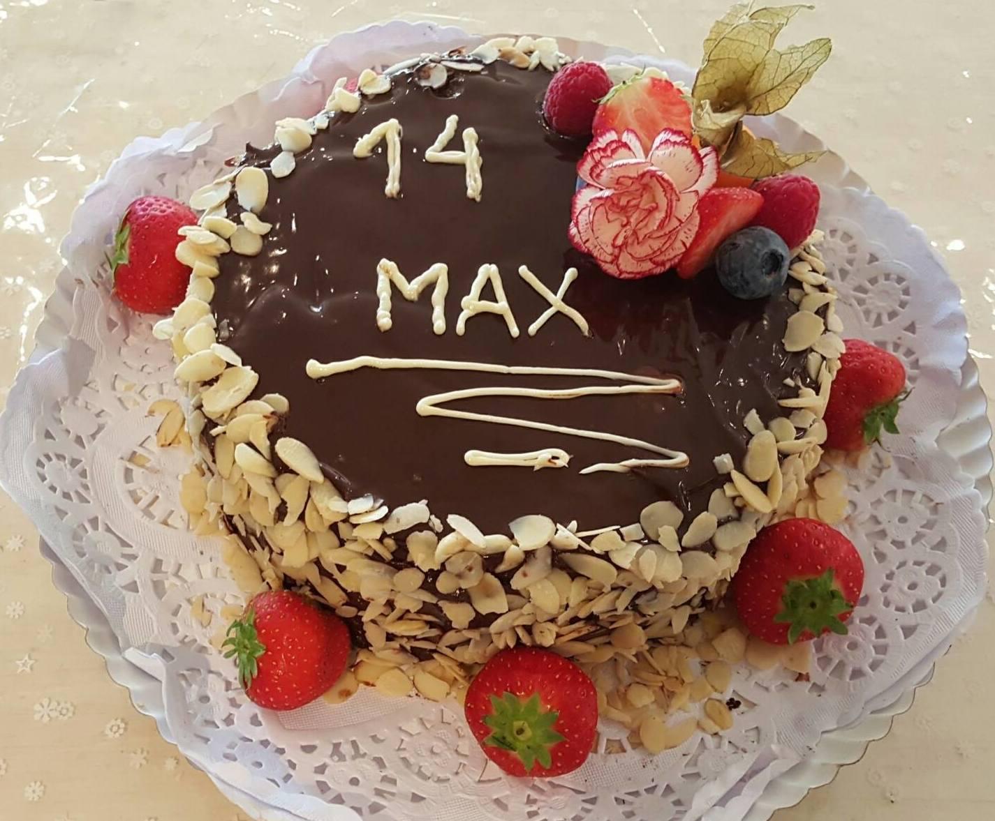 Tarta de chocolate personalizada para celiacos