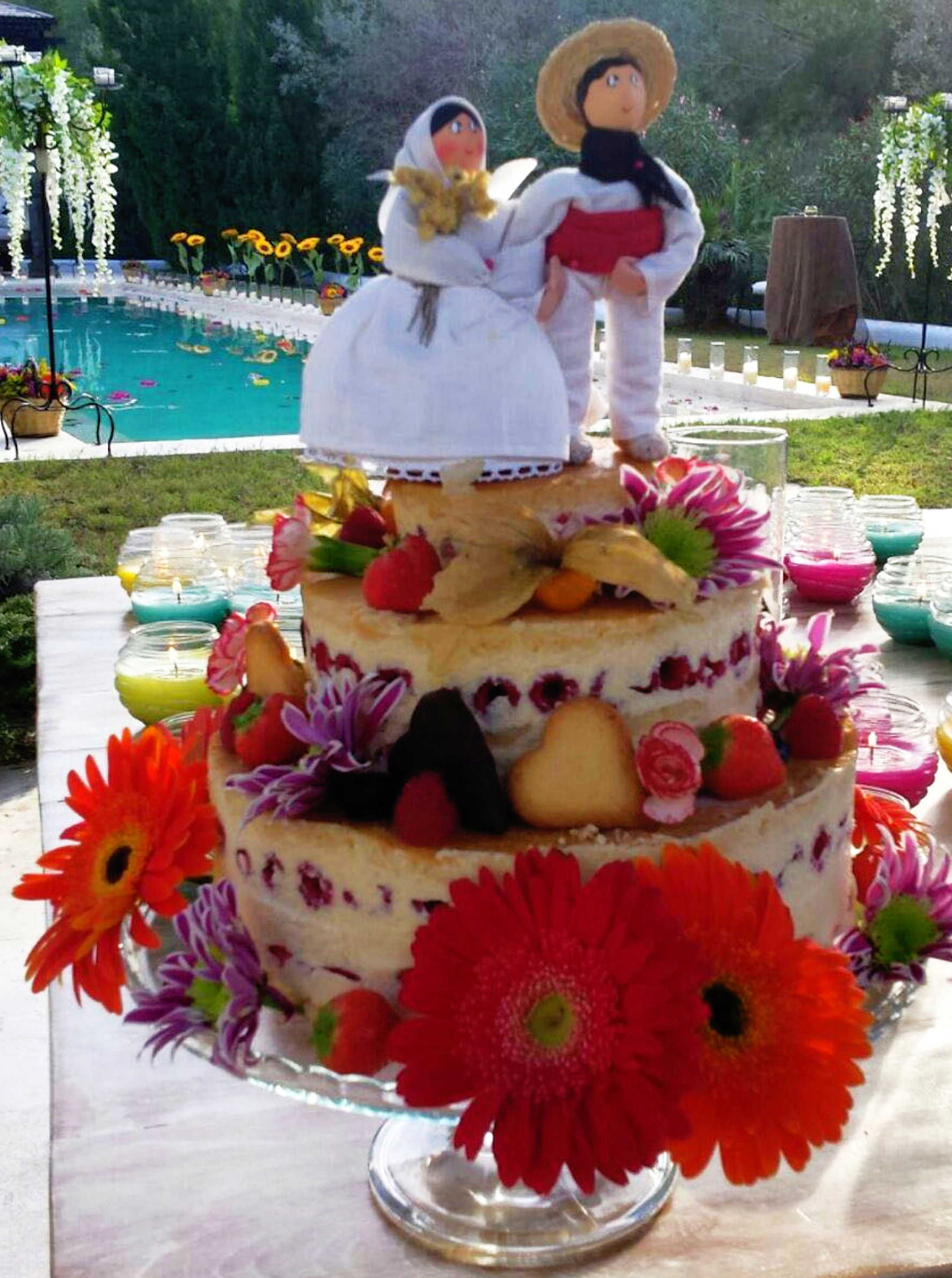 Tarta personalizada en boda en Villa privada
