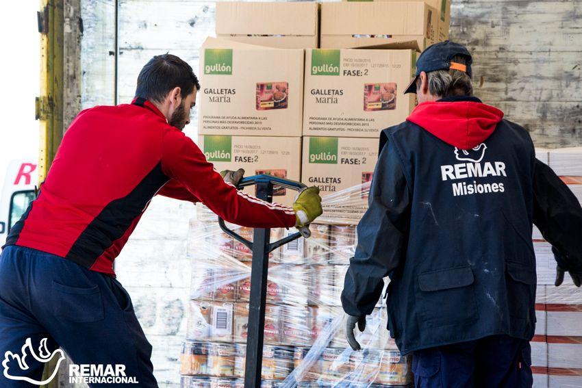 Recogida de productos para la ayuda humanitaria