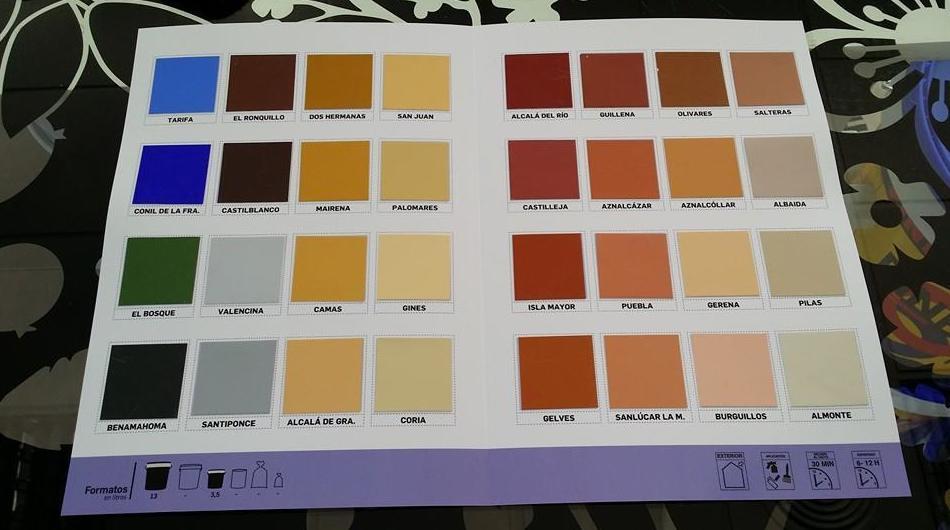 Gran variedad de colores