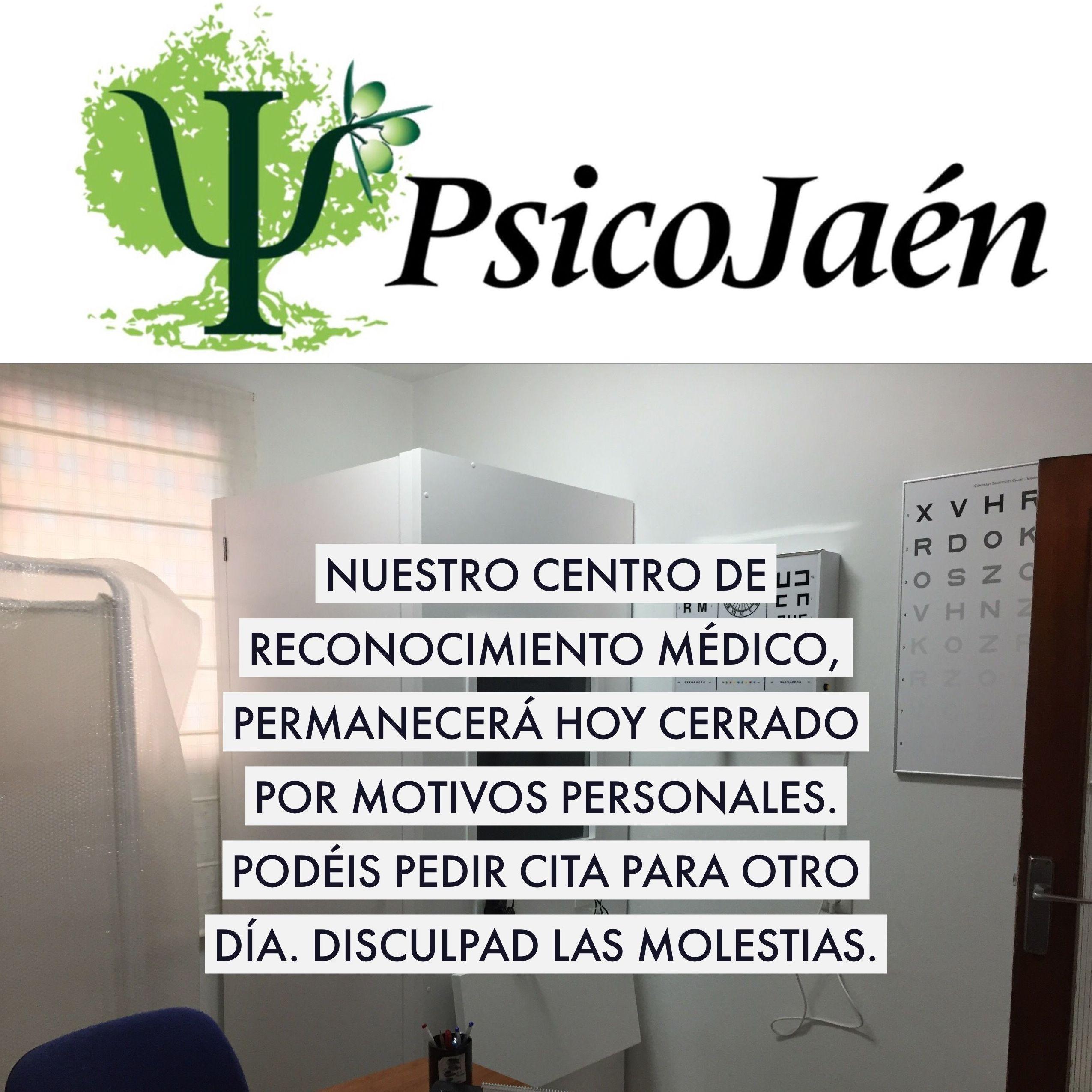 NUESTRO CENTRO DE RECONOCIMIENTO MÉDICO PERMANECERÁ HOY CERRADO POR MOTIVOS PERSONALES