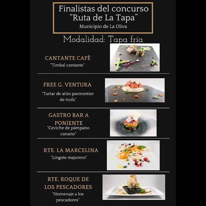 Finalistas del concurso de la tapa en Corralejo