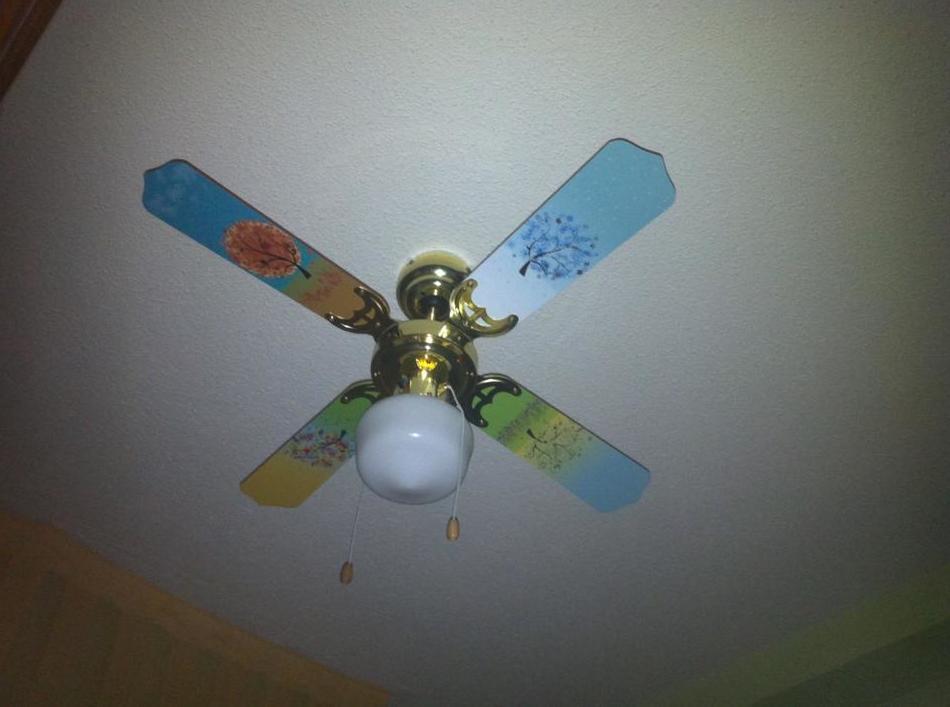 Decoración personalizado de las aspas de un ventilador de techo