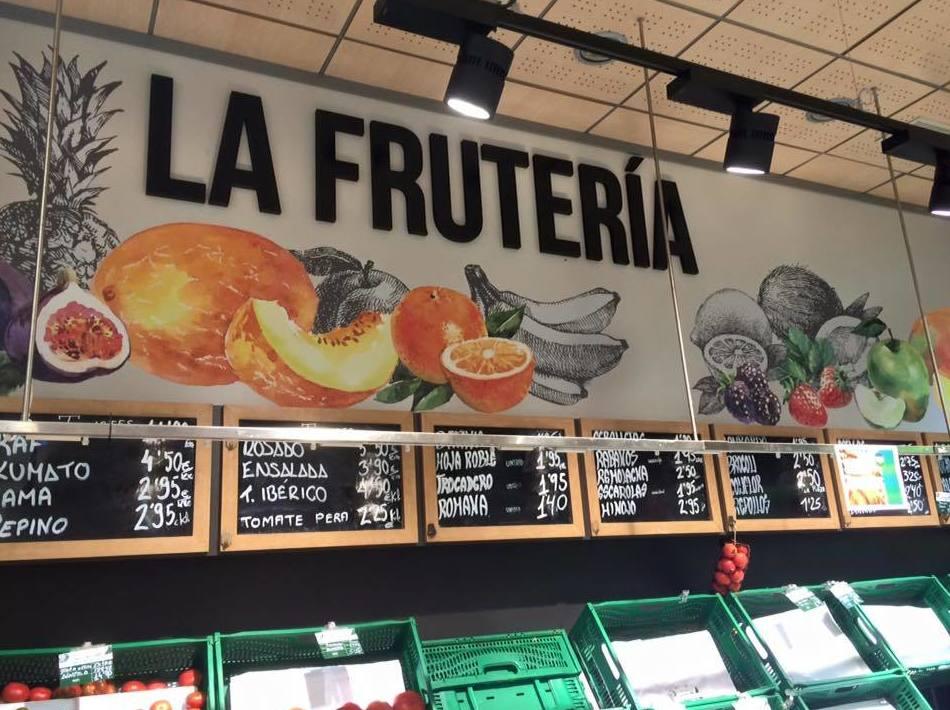 Rotulación para frutaría