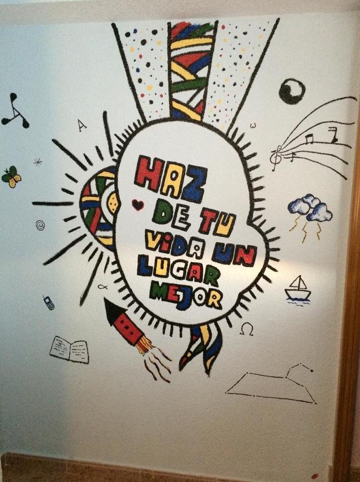 Mural en pintura en habitación infantil