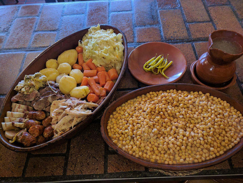 Cocido completo en Bustarviejo