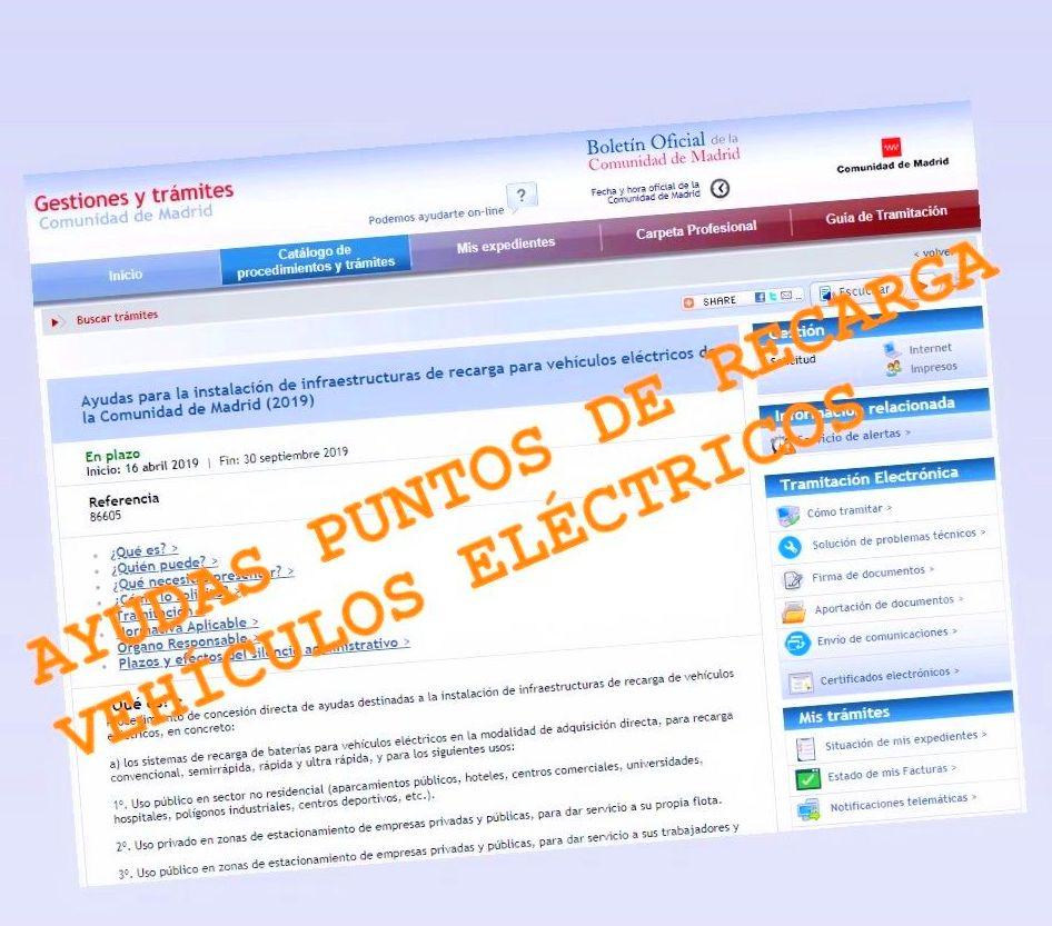 AYUDAS PUNTO DE RECARGA VEHÍCULOS ELÉCTRICOS